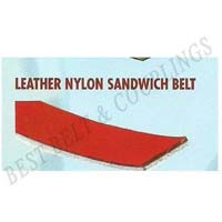 Leather & Rubber Nylon Sandwich Belts