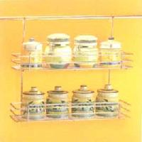 Double Tier Ss Spice Rack