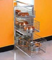 Stainless Steel Drawer Basket Trolley