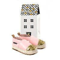 Pretty Brave Espadrille Pink Leather Baby Shoes