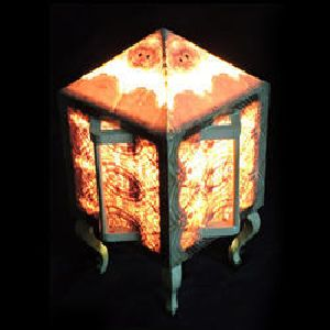 Chinese Wooden Table Lamp
