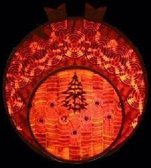 Double Disc Christmas Wall Light