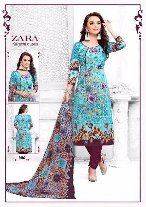 Mah Garments Cotton Fabric Salwar Suit Material Zara Karachi Queen