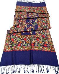 Woollen Hand Embroidered Shawls