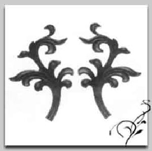 Wrought Iron Casting Leaves