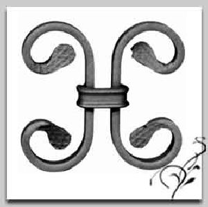 Wrought Iron Clip on Unit