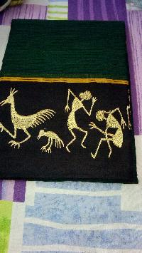 Kutch -embroidered Pure Soft Cotton Saree