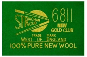 Snooker Table  Strachan 6811 Clubcloth