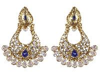 Indian Traditional GoldPlated Crystal Stone Earrings For Women