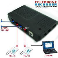 2 Line USB Intellicall Voice Logger Telephone Recorder