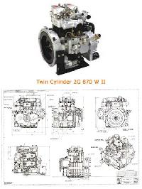 Model No. : 2g 870 W Ii Water Cooled Engine