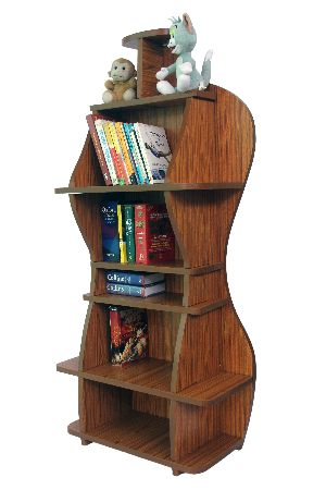 Wall Mounted Wooden Bookshelf