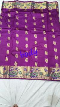 Peacock Paithani Saree Art Silk