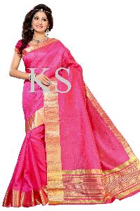 Tussar Silk Jari Border Saree