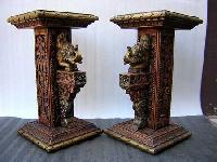 Handcrafted Wooden Pillars