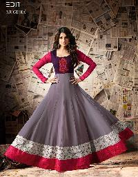 Party Wear Long Anarkali Georgette Embroidered Suit