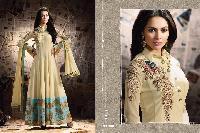 Skyblue Fashion Party wear Long Anarkali type Salwar suit2