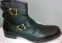 Pure Leather Black Boot For Men