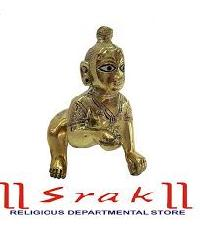 Brass Laddu Gopal Statue