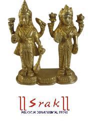 Brass Lakshmi Vishnu Statue
