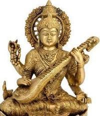 Brass Saraswati Maa Statue