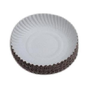 white 08 inch disposable paper plate