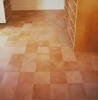 leather floor tile