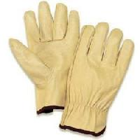Full Chrome Leather Driving Gloves