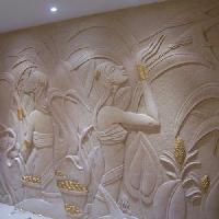 decorative stone murals
