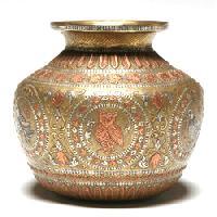 Brass Ashta Ganesh Kalash