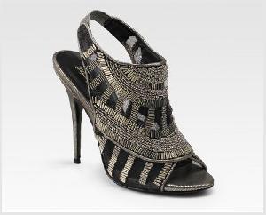 Ladies Beaded Footwear