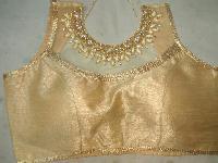 Golden Readymade Saree Blouse