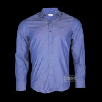 Blue Plain Long Sleeve Shirt