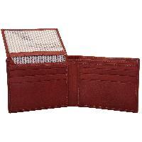 Valbone Men Red Brown Genuine Leather Wallet