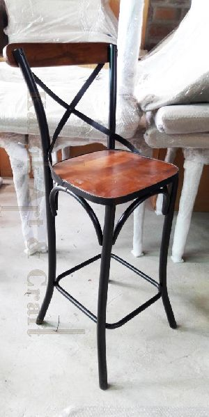 Crossback Chair With Wooden Top