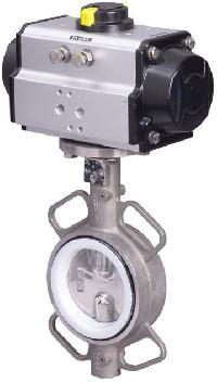 Industrial Pneumatic Actuator Operated Butterfly Valve