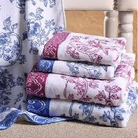 Cotton Printed Bath Towels