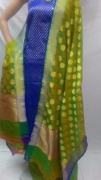 Unstitched Banarasi Hand Woven Suits