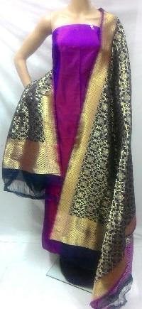 Unstitched Designer Banarasi Silk Suits