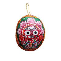 Painted Coconut Shell
