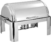 Stainless Steel Rectangular Roll Top Chafing Dish