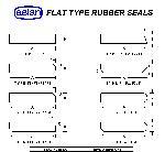 Flat Type Rubber Gate Seals