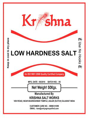 Pure Salt ( Low Hardness Salt )