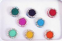 plain velvet bindis with stone out line