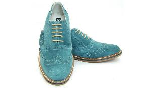 Mens Suede Brogue Shoes