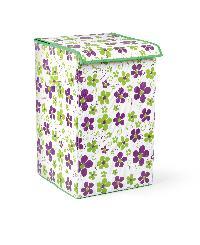 Bonita Laundry Basket Happy (Rich Plum Bloom)