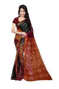 Multi Coloured Bandhani Sarees