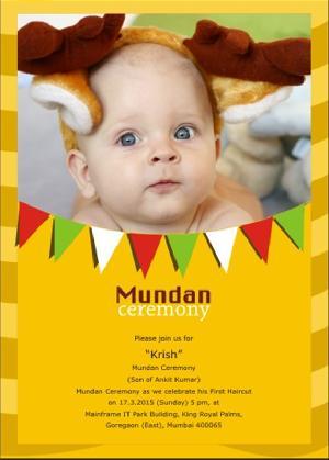 Mundan Card Screen Printing Services