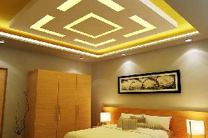Gypsum false and grid ceiling work service