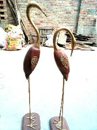 Wooden Flamingo Bird